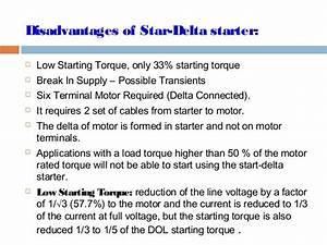 Cable Size Star Delta Starter Motor