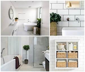 Objet Deco Salle De Bain : la salle de bain d coration minimaliste moderne en 25 id es ~ Teatrodelosmanantiales.com Idées de Décoration