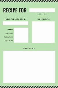 recipe template dc design With recipe book template for mac