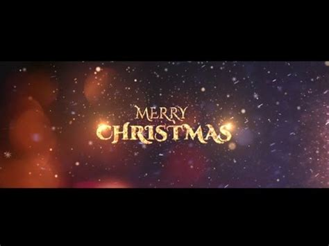 Christmas Wishes After Effects Templates by Christmas Wishes After Effects Template Youtube