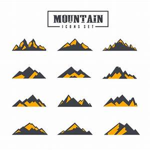 Mountain icons collection Vector | Free Download
