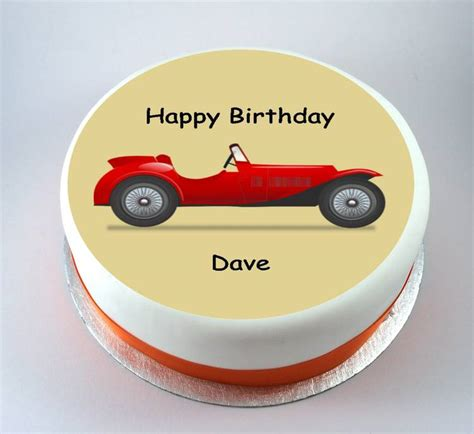 Valentine Car Decorations by Vintage Sports Car Cake Kiss Cakes
