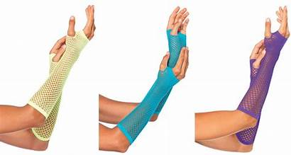 Fishnet Arm Warmers Triangle Gloves Length Elbow