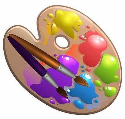 Palette Paint Clipart Brushes Brush Painting Transparent