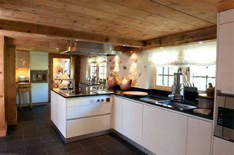 Old Alpine Chalet in French Style Shows Art Deco