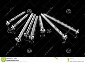 Screws On Black Background Royalty Free Stock Photo ...