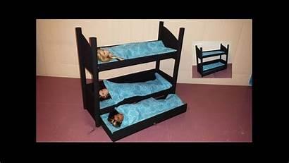 Bunk Doll Beds Triple Bed Barbie Paper