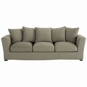 Sofa 4 Sitzer : sofa 4 sitzer aus stoff grau bruxelles bruxelles maisons du monde ~ Eleganceandgraceweddings.com Haus und Dekorationen