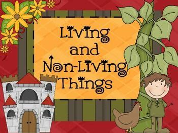 living and non living things powerpoint anchor charts teaching and charts