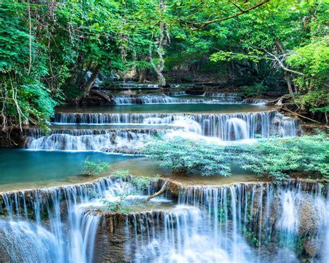 Waterfalls Shrubs Nature Wallpapers And Photos 3769 ...