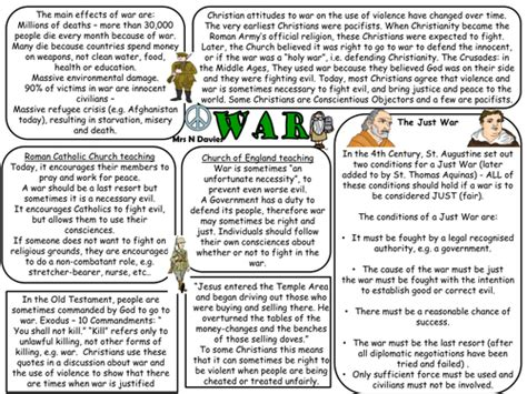 Gcse Religious Studies Information Worksheets And