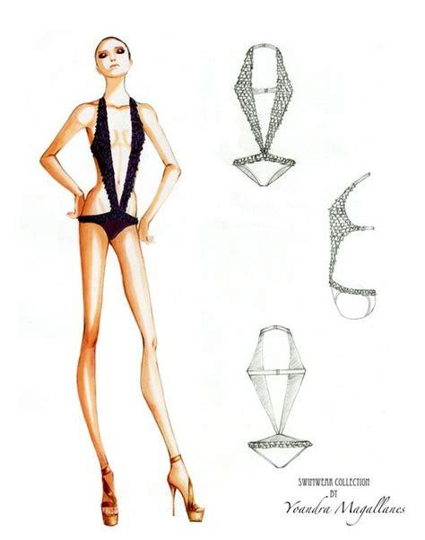 swimwear project  yoandra ma fashion sketches model