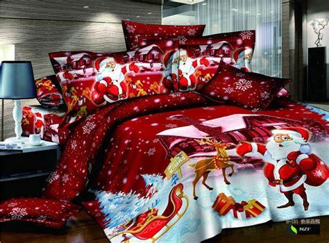 Cambia volto alla tua camera a letto con un nuo. Copriletto Natalizio Matrimoniale / Home Set Biancheria Da Letto In Tessuto Colore Rosso Babbo ...