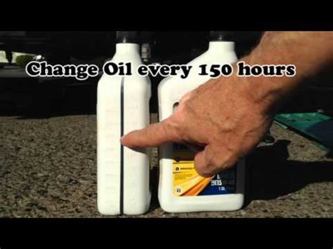 DIY Oil and Air Filter Change for Onan RV QG 4000 EVAD