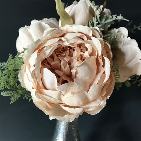 bouquet  dusky peach peonies heavenly homes gardens