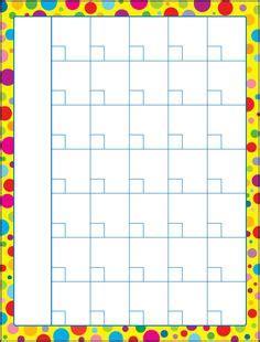 cafechoo image blank calendar templates  teachers