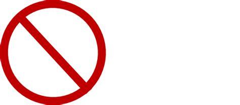 Red No Sign Clip Art At Clker.com