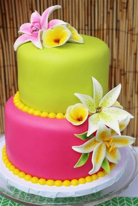 hawaii birthday party ideas gorgeous cakes pinterest