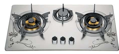 China 72cm Three Burner Gas Cooktop, Stainless Steel 3