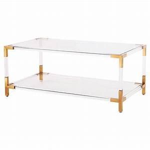 maelie modern acrylic antique gold coffee table kathy With acrylic and gold coffee table