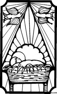 Baby Jesus Stained Glass Coloring Pages