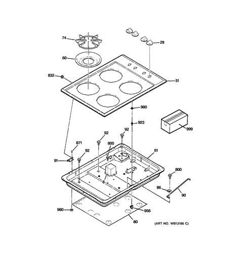 ge jgpejwh gas cooktop parts sears partsdirect