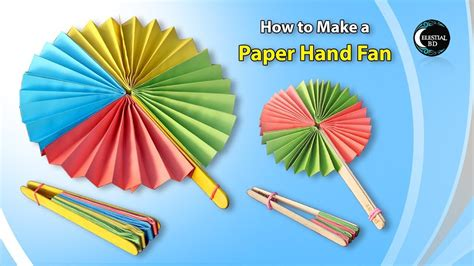 how to make a hand fan popsicle stick paper fan craft how to make a paper
