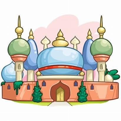 Palace Clipart Castle Aladdin Arabian Royal Transparent