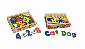 amazoncom melissa doug deluxe magnetic letters and With wooden magnetic letters and numbers