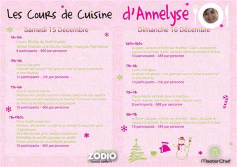 cours cuisine zodio cours de cuisine d 39 annelyse participante à master chef 2012 zôdio