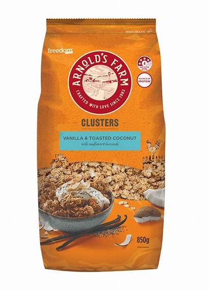 Coconut Clusters Vanilla 850g Toasted Farm Arnold