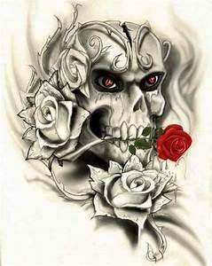 Dessin Tete De Mort Avec Rose : pingl par nada sur dessin pinterest cr nes t te de mort et crane ~ Melissatoandfro.com Idées de Décoration