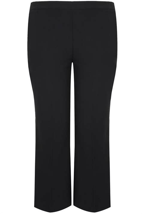 petite leg straight elasticated trousers waistband classic clothing lazy