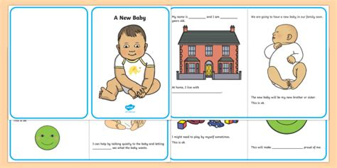 A New Baby Social Situation  Social Story, New Baby, Siblings, Sibling