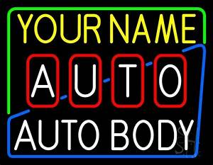 Custom Auto Body Shop 1 Neon Sign