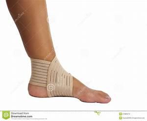 Injured Ankle With Bandage Stock Images - Image: 27980474
