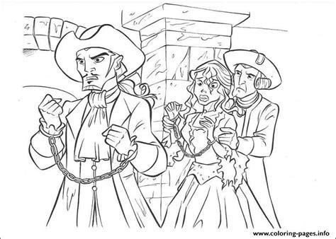 princess  captured pirates   caribbean coloring