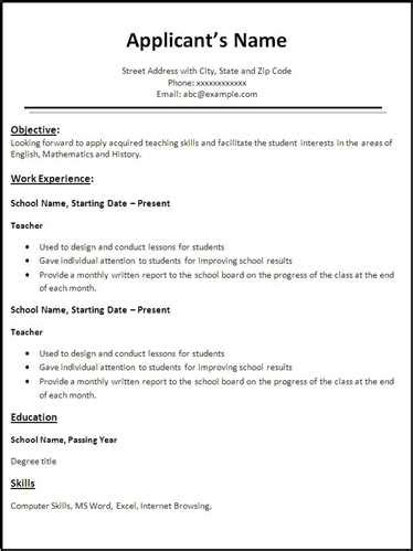 Copy And Paste Resume Templates Learnhowtoloseweightnet