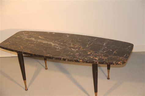 Italian midcentury modern coffee table in mahogany & glass, 1950s. Italian Marble & Brass Coffee Table, 1950 for sale at Pamono