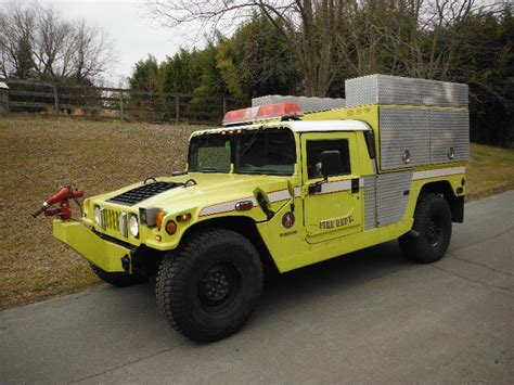 1997 HUMMER H1 BRUSH FIRE TRUCK 4SP TURBO 34K CTIS M998 ...