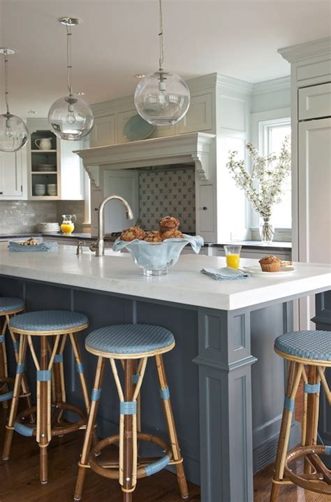 blue kitchen island blue kitchen island transitional kitchen kerry hanson design