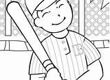 Baseball Coloring Diamond Printable Player Getcolorings sketch template