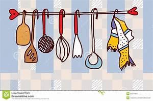 etagere d39ustensiles de cuisine drole image stock image With photos d ustensiles de cuisine