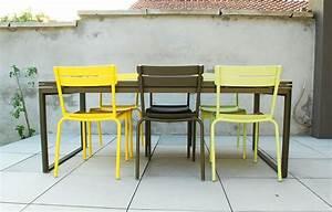 terrasse avec chaises luxembourg fermob et table With mobilier de jardin fermob 5 chaise luxembourg chaise de jardin metal