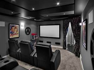 Movie theater room decor home theater transitional with