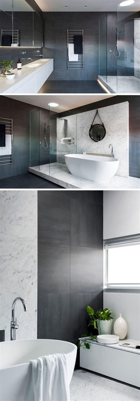 bathroom tile idea  large tiles   floor