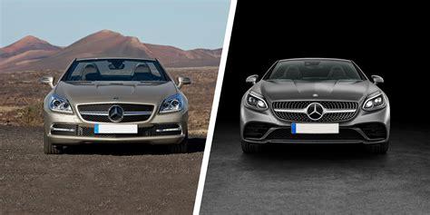 mercedes slc  slk facelift comparison carwow