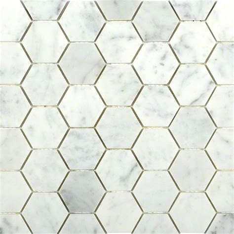 Marble Mosaic Tile by Carrara Hexagon Marble Mosaic Tiles Tilebar