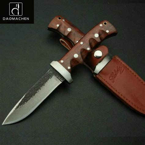 wood handle tactical hunting knife forging fixed blade