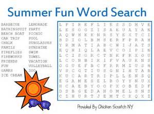 Summer Fun Word Search Printable